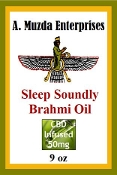 Sleep Soundly Brahmi Coconut Massage Oil 9oz 50 mg Organic CBD