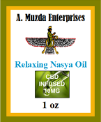Relaxing Nasya Oil- 1oz 10 mg Organic CBD