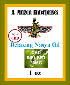 Super Relaxing Nasya Oil –1oz Organic CBD 20mg